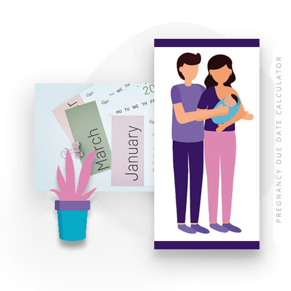 Image illustration of pregnancy due date calculator.